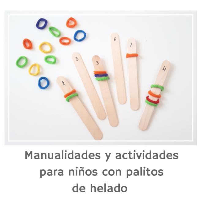 manualidades y actividades para niños con palos de helado