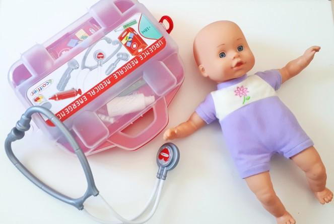 ir al médico con niños